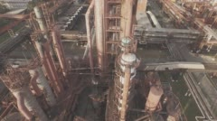 Aerial view of industrial infrastructure, at the Coke production. Stock Footage