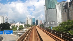 Kuala Lumpur commuter train on a sunny day Stock Footage