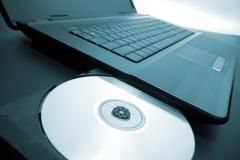 Laptop optical drive Stock Photos