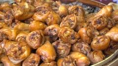 Steam chicken's feet,drumsticks in bamboo Stock Footage