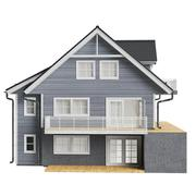 Country house wood siding, front view Stock Illustration