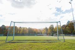 Football goal on field Kuvituskuvat