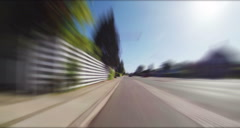 Driving Through City And Country Road - stock footage