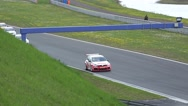 Stock Video Footage of 4k Volkswagen Golf Cup car race courve course Germany