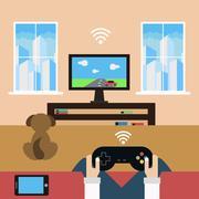 Domestic leisure - stock illustration