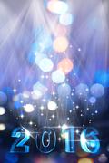 New Year's blue icy numbers Stock Illustration