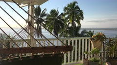 Hammock ropes on Lanai Stock Footage