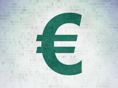 Currency concept: Euro on Digital Paper background Piirros