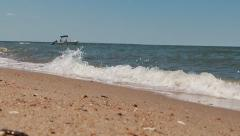 Calm Lapping Waves On The Chesapeake Bay Stock Footage