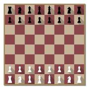 Chess board with figures vector illustration. Stock Illustration
