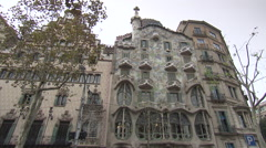 Casa Batlló in Barcelona Stock Footage