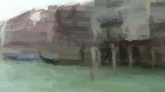 Live Painting.Venice italy. Stock Footage