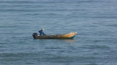 Fisherman fishingboat ocean sea Stock Footage