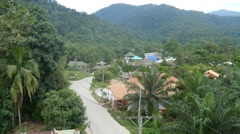 Rural countryside jungle thailand vietnam village remote town 4k Stock Footage