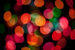 Silver Bokeh Poster With Gradient Mesh - stock photo