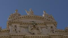 Statues on top of Santa Maria del Giglio Church, Venice Stock Footage