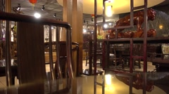 Classical redwood furniture,traditional wood furniture market in guangzhou Stock Footage