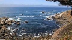 Ocean coast rocky California waves Stock Footage
