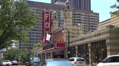 The historic Fox Theater in Atlanta, Georgia. Stock Footage