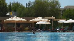 ANTALYA, TURKEY. Swimming pool 2 Stock Footage
