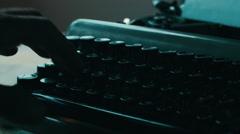 Creative writing typewriter Stock Footage