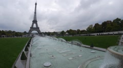 Jardins du Trocadéro Stock Footage