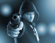 Gangster with gun Kuvituskuvat