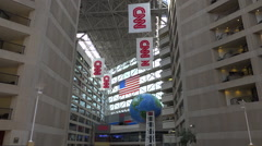 The interior of CNN cable network news headquarters in Atlanta, Georgia. Stock Footage