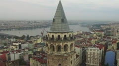 Istanbul Galata Tower - stock footage
