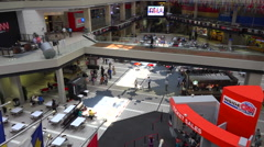 Stock Video Footage of The interior of CNN cable network news headquarters in Atlanta, Georgia.