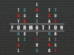 Stock Illustration of Studying concept: Formation in Crossword Puzzle