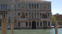 The beautiful and decorated Palazzo da Mula Morosini in Venice Stock Footage