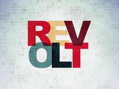 Stock Illustration of Politics concept: Revolt on Digital Paper background