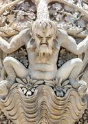 Monster stucco statue - stock photo