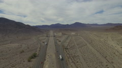 Bird view of the road 15th between Nevada and California  Stock Footage