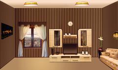 Luxurious room - stock illustration