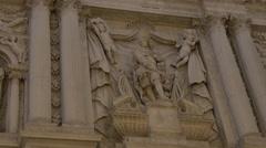 Beautiful relief sculpture on Santa Maria del Giglio Church in Venice Stock Footage