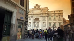 ULTRA HD 4K real time shot,The famous Trevi Fountain in Rome Stock Footage