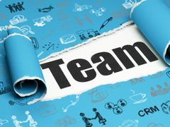 Finance concept: black text Team under the piece of  torn paper - stock illustration