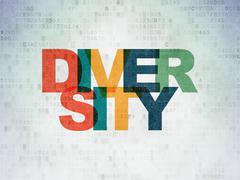Stock Illustration of Finance concept: Diversity on Digital Paper background