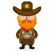 Stock Illustration of cowboy sheriff pistol