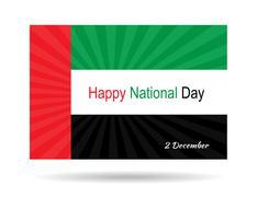 Stock Illustration of UAE National Day