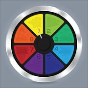 Abstract infographic design with color wheel - stock illustration