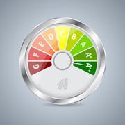 Energy class gauge design - stock illustration