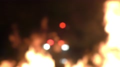 Blurred, out of focus flashing lights Stock Footage
