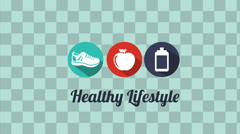 Healthy Lifestyle design Stock Footage