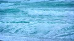 Foamy Waves on a Tropical Beach Stock Footage