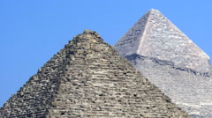 Pyramids of Egypt Showing the Details Against a Blue Sky. - stock footage