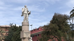 Full figure of the statue of Vittorio Emanuele II Stock Footage