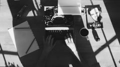 Creative writing typewriter Stock Footage